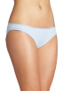 Tommy Hilfiger Underwear -  Tommy Hilfiger Women's Ruched Bikini Light Blue Pindot