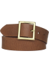 Tommy Hilfiger Belt -  Tommy Hilfiger Women's Square Buckle Belt Saddle