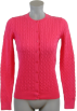 Tommy Hilfiger Cardigan -  Tommy Hilfiger Womens Cable Knit Cardigan Sweater Pink