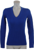Tommy Hilfiger Pullovers -  Tommy Hilfiger Womens Cable Knit Cotton Logo Sweater Royal Blue
