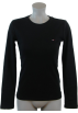 Tommy Hilfiger Long sleeves shirts -  Tommy Hilfiger Womens Crewneck Solid Color Logo T-Shirt Black