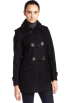 Tommy Hilfiger Kurtka -  Tommy Hilfiger Womens Wool Duffle Coat Black
