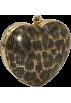Amazon.com Clutch bags -  Whiting & Davis Heart Clutch Leopard