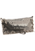Amazon.com Clutch bags -  Whiting & Davis Rings Convertible Clutch Pewter