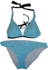 Tommy Hilfiger Swimsuit -  Women's Tommy Hilfiger 2-Piece Bikini Blue and White Stripes
