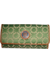 Tommy Hilfiger Wallets -  Women's Tommy Hilfiger Continental Checkbook Wallet (Green &amp; White)