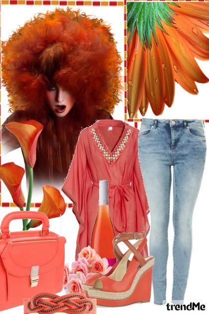 Orange orgic- Modna kombinacija