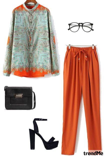 orange is the new black- Modna kombinacija