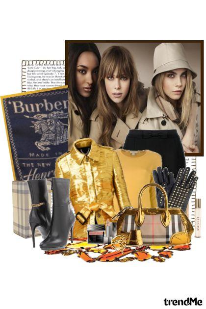 Burberry ~Casual Metallic in yellow~