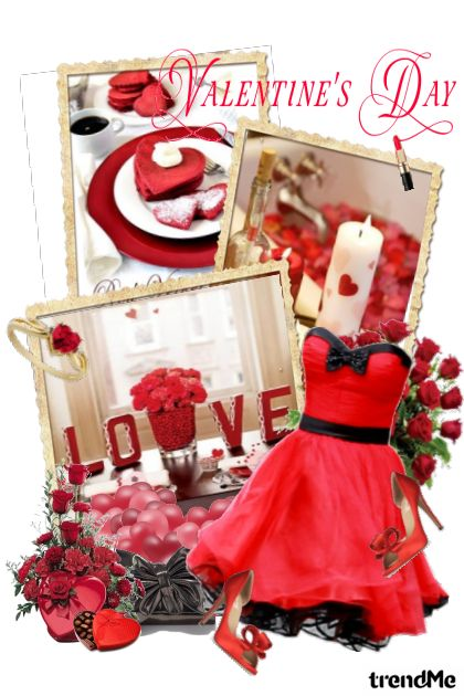 Heartful Valentine♥ from collection LOVE story by Erissa