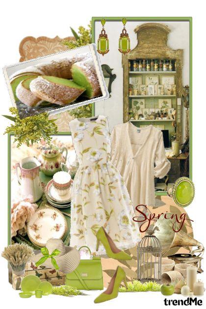 Sage×Beige=Calm Spring