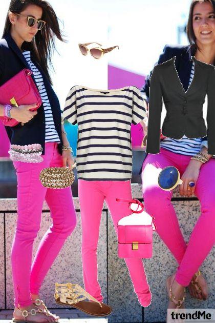 Think Pink- Modna kombinacija