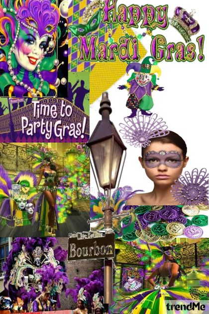 Mardi Gras from collection Carolina Girls by Betty Gaither-Harmon