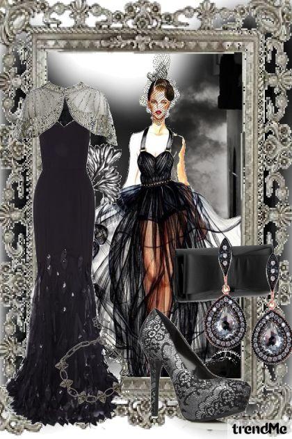 long black dress elegant style :)