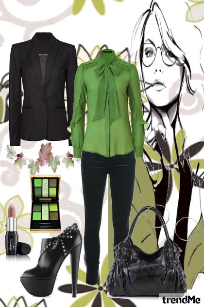 green and black  <3