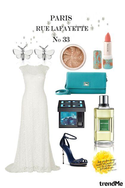 white dress in Paris