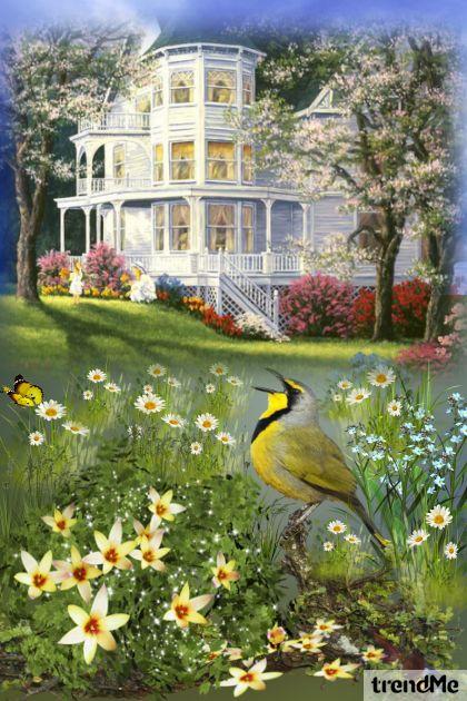 Listen! Little bird is singing...