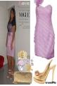 vestido lilas preguiado