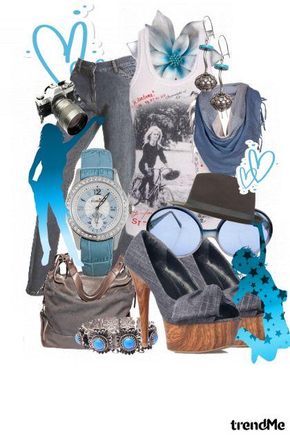 Blue jeans art