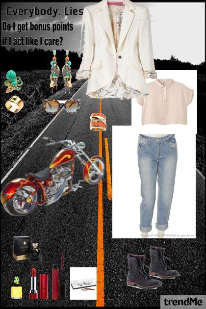 moto-boots suit= have fun