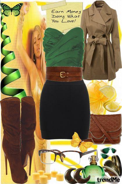 green brownie