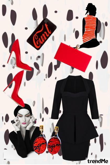 Lady likes RED♥- Modna kombinacija
