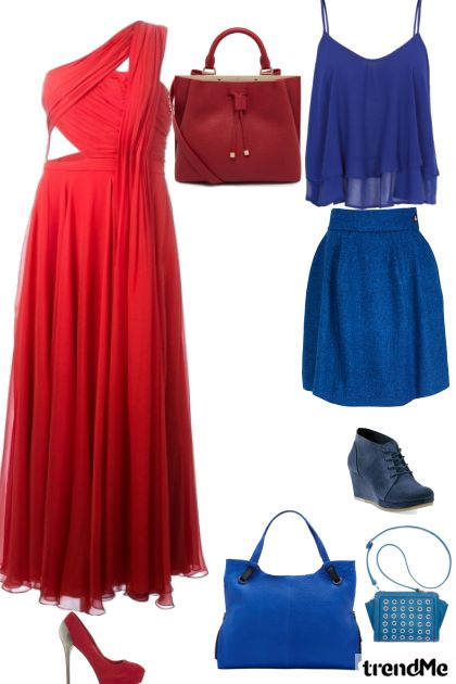 crveno i  plavo