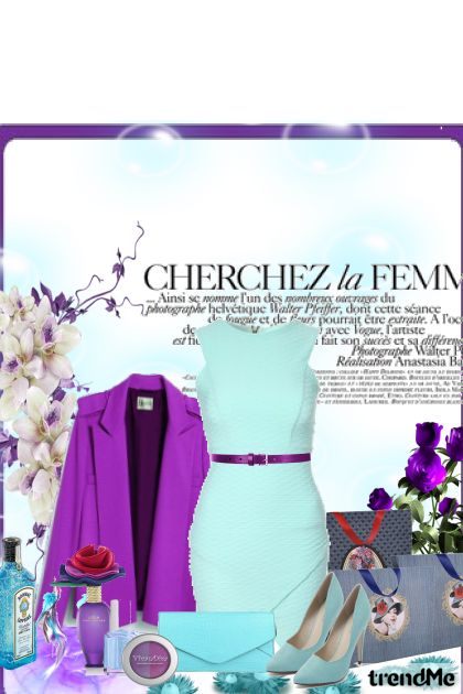 Purple in blue