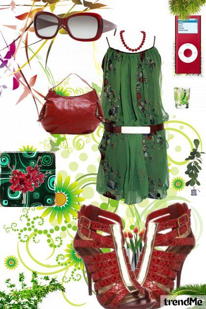 green red girl ;)