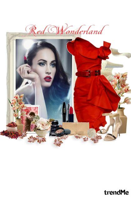 crvena haljina...crveni ruž...