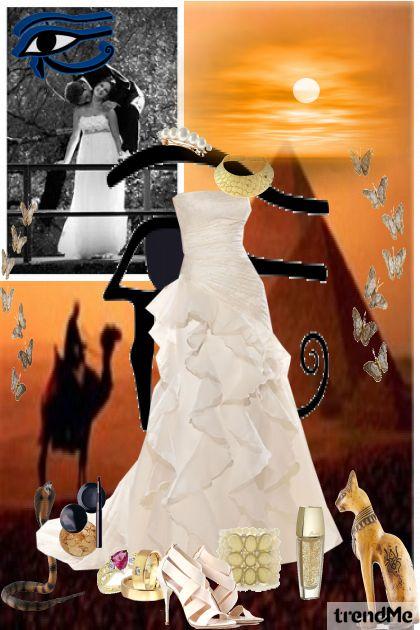 egiptian desert wedding