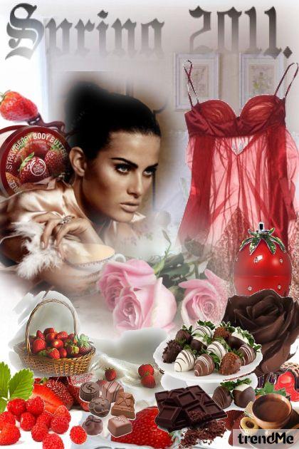 jagode i čokolada