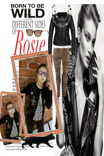 Trendy Leopard Black Look won't let you down