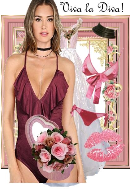 Oiva la Diva bodysuit and evening dress set