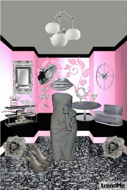 sivo roza kombinacija :)