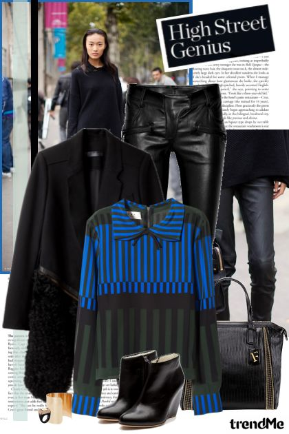 Street Style: Black leather!