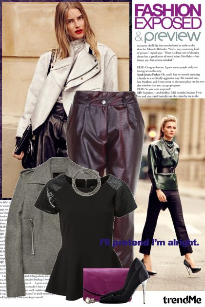 Fall 2012: leather pants!