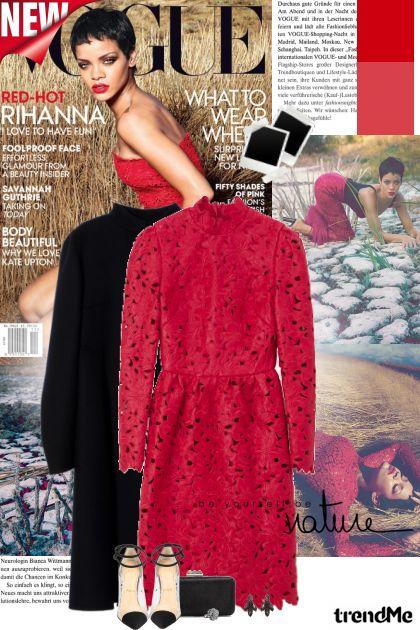 Red-hot Rihanna!