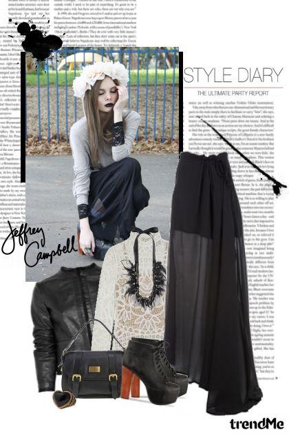 Street style: maxi sheer skirt!