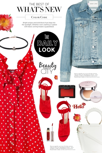 The Daily Look: Polka Dot Dress