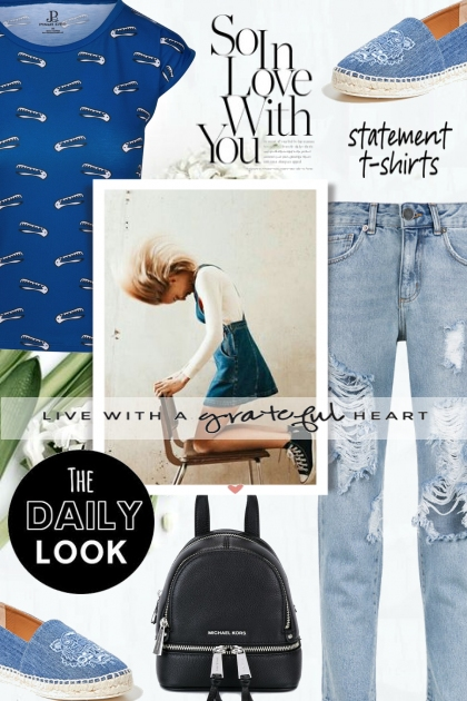 The Daily Look: Jeans and T-shirt