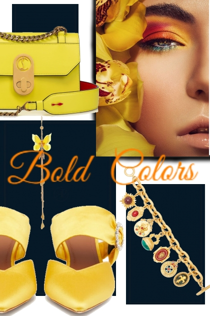 Bold colored accessories