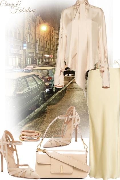 Monochrome elegance- Modekombination