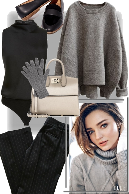 Cozy grey/black