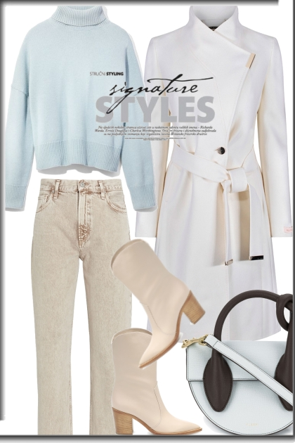 Light colors for winter outfit