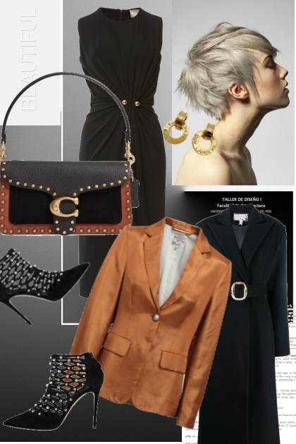 Rusty brown & black- Fashion set