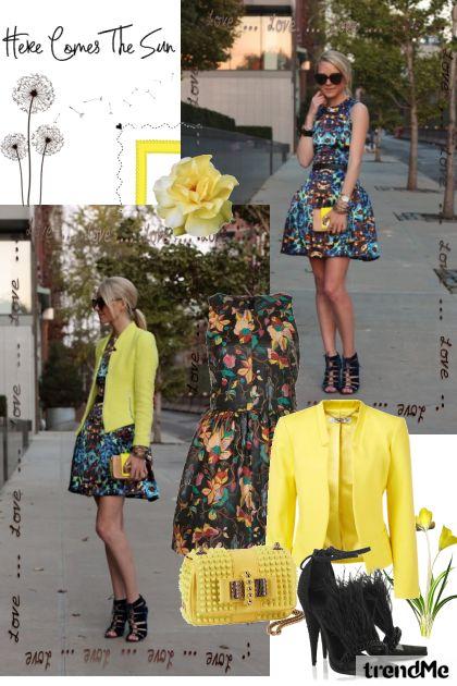 yellow spring- Modna kombinacija