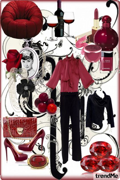 deep ruby chic