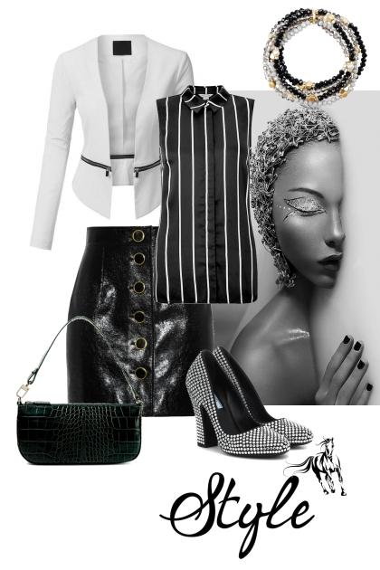 Crno bijela varijanta sa stilom