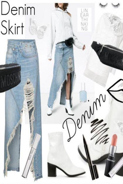 Linear Thinking: Denim Skirt